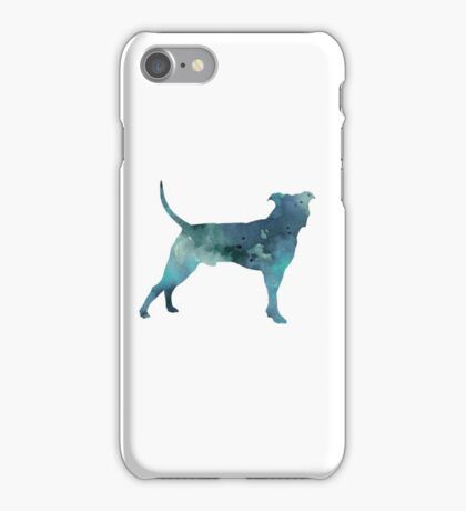 Blue pit bull watercolor art print painting iPhone Case/Skin