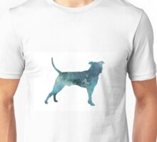 Blue pit bull watercolor art print painting Unisex T-Shirt