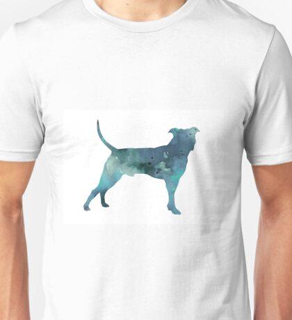 Blue pit bull watercolor art print painting Unisex T-Shirt