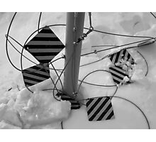 Parking Lot Snow Photographic Print