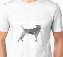 Pit bull silhouette watercolor art print painting Unisex T-Shirt