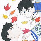 Watanuki and Doumeki by LibraryDrone