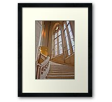 The Grand Staircase in the Suzzallo Library Framed Print
