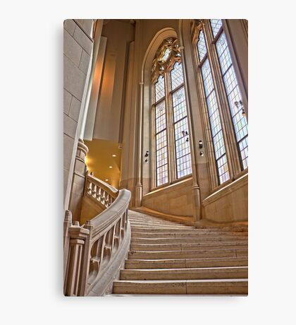 The Grand Staircase in the Suzzallo Library Canvas Print