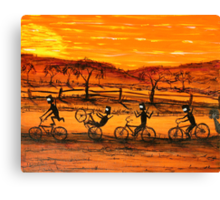 """""""Ned Kelly Gang Easy Riders"""" Original Australian Acrylic Painting;  SOLD Canvas Print"""