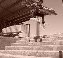 Kickflip Over The Stairs. by GRAFFITIsplash