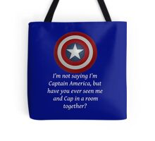 I Could Be Captain America - WT Tote Bag