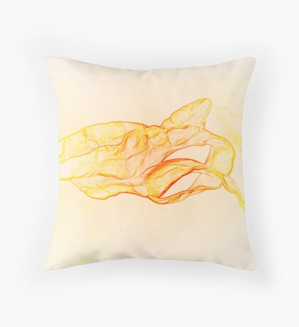 Orange Abstract from Sculpture Throw Pillow