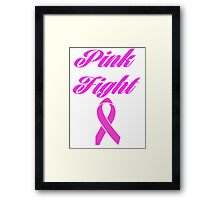 pink fight breast cancer  Framed Print