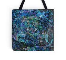 """Alchemical Secrets - """"The Stag And The Unicorn"""" Tote Bag"""