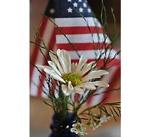 Flower & Flag Photographic Print