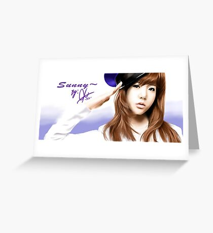 snsd sunny Greeting Card
