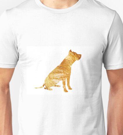 American staffordshire terrier minimalist painting Unisex T-Shirt