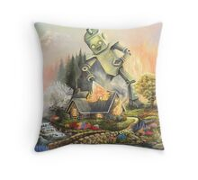 Firelight Cottage Throw Pillow