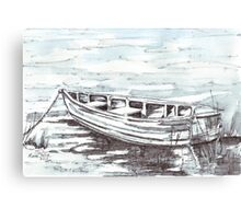 Here is my boat Canvas Print
