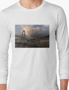 Sky Drama Around the London Eye Long Sleeve T-Shirt