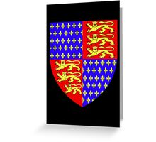 England's Coat of Arms circa 1340 Greeting Card