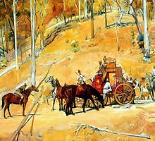 'Bailed up' -after Tom Roberts by Guntis Jansons