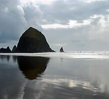 Haystack Rock, Cannon Beach, OR by Jennifer Hulbert-Hortman