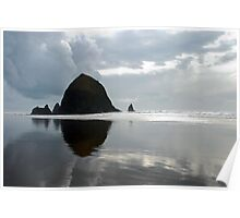 Haystack Rock, Cannon Beach, OR Poster