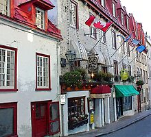 Old Quebec Shopfronts by Dana Roper