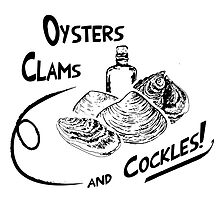 Oysters, clams, and cockles by ervinderclan