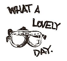 What a lovely day - black Photographic Print