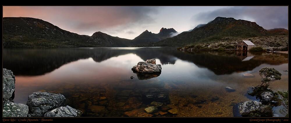 Dove Lake Dawn Pan by Robert Mullner