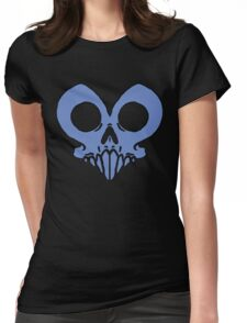 Alan Bathearst HeartSkull Shirt- Blue Edition Womens Fitted T-Shirt