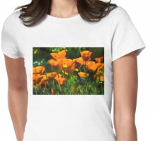 Brilliant Orange California Poppies - Impressions of Desert Spring Womens Fitted T-Shirt