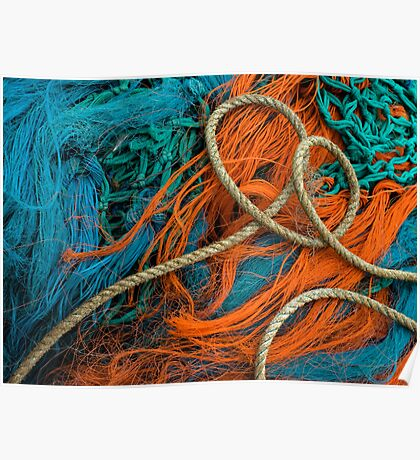 Fishing Nets with coiled Rope Poster