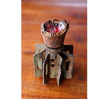 Bomb Candle-holder Photographic Print