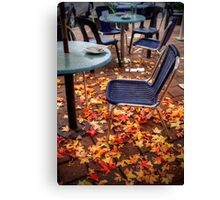 Autumn leaves outside a cafe in Stirling, Adelaide Hills Canvas Print