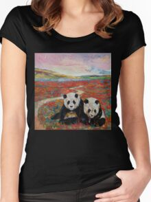 Panda Paradise Women's Fitted Scoop T-Shirt