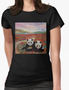 Panda Paradise Womens Fitted T-Shirt
