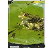 Green frog, green lily pad iPad Case/Skin