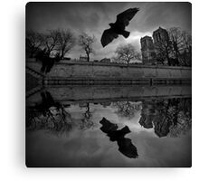 Pigeon and Notre-Dame Canvas Print