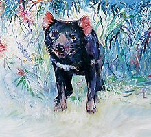 Tasmanian Devil by Pieter  Zaadstra