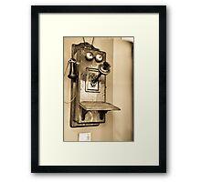 Old-Time Telephone Framed Print