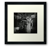 Small street in Tokyo Framed Print