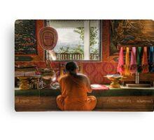 Writing monk Canvas Print