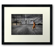 Monk in Paris Framed Print