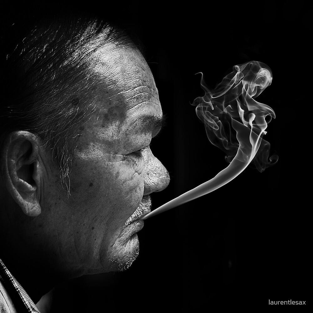 Smoking man by Laurent Hunziker