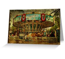 The Old Animal Carousel Greeting Card