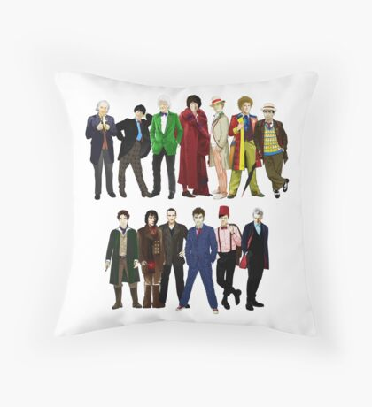 Doctor Who - The 13 Doctors Throw Pillow