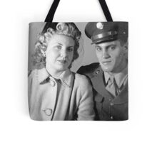 Soldier and His Girl, c.1945 Tote Bag