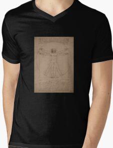 Vitruvian Man -- Leonardo da Vinci Mens V-Neck T-Shirt