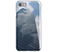 Sky and Sky - Toronto Skyscraper Reflecting Fluffy White Clouds iPhone Case/Skin