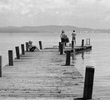 Life on the Boardwalk, Lago Trasimeno, Umbria, Italy by Andrew Jones