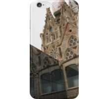 Reflecting on Sagrada Familia, Antoni Gaudi's Masterpiece iPhone Case/Skin